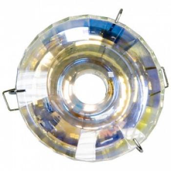 Светильник потолочный, JCDR G5.3 с многоцветным стеклом, хром, с лампой, DL4158