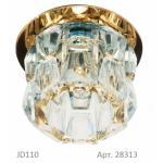 Светильник потолочный, JCD9 35W G9 прозрачный,золото, JD115