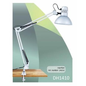 Светильник настольный, ESB 9W 230V Е27 серебро, c лампой, DE1410