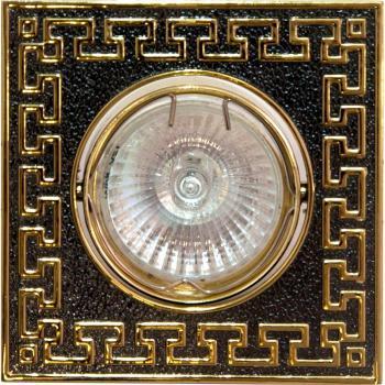 Светильник потолочный, MR16 G5.3 черный металлик-золото, 2008SDL