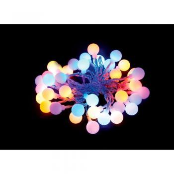 Гирлянда 4.5V 20 LED мульти, 2.56W, 42mA, длина 4 м, батарейки 3*ААА, IP20, шнур 0,5 м 0.12мм, CL556