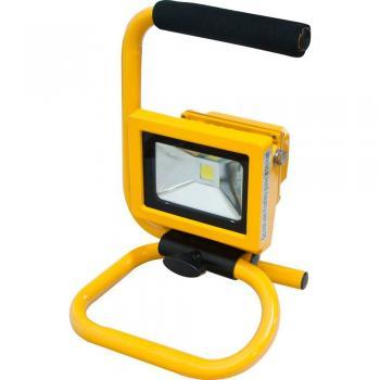 Прожектор квадратный переносной, 1LED*10W-белый 230V желтый (IP65) 186*245*151мм ( с ручкой) , LL-260
