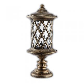 Светильник садово-парковый, 60W 230V E27 черное золото, IP44, PL5024