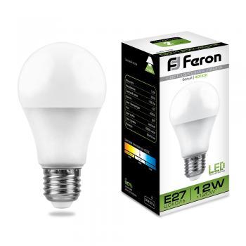 Лампа светодиодная, (12W) 230V E27 4000K, LB-93