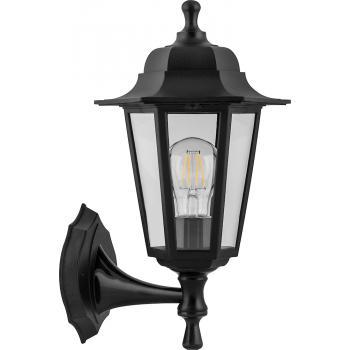 Светильник садово-парковый Feron НБУ 06-60-001 вверх/вниз, 6-ти гранник 60W E27 230V, черный