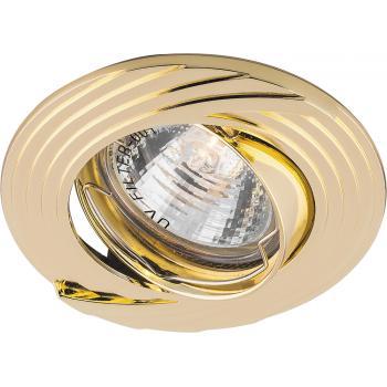 Светильник встраиваемый Feron DL6227 потолочный MR16 G5.3 золото поворотный