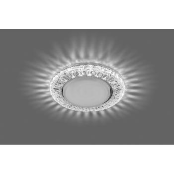 Светильник встраиваемый с белой LED подсветкой Feron CD4022 потолочный GX53 без лампы прозрачный