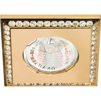 Светильник потолочный MR16 MAX50W 12V G5.3, прозрачный,золото,DL102-C