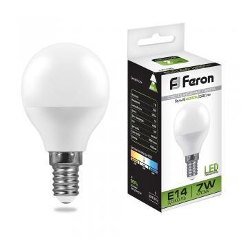 Лампа светодиодная, (7W) 230V E14 4000K, LB-95
