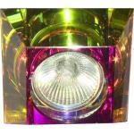 Светильник потолочный, MR16 G5.3 с многоцветным стеклом, хром, C2019SQ