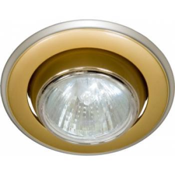Светильник потолочный, MR16 G5.3 золото-хром, 301-MR16
