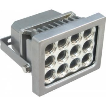 Прожектор квадратный, 12LED/1W-белый 230V серебрянный (IP54), LL-159