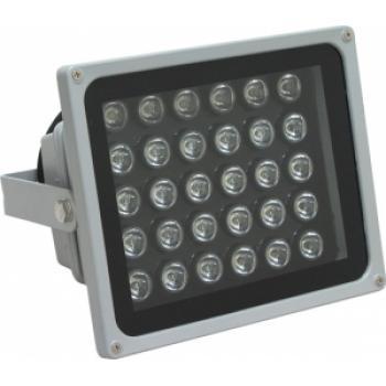 Прожектор квадратный, 30LED/1W-6500K 230V серый (IP65), LL-142