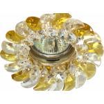 Светильник потолочный, MR16 G5.3 с прозрачным-желтым стеклом, золото, с лампой, CD2316