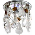 Светильник потолочный, MR16 G5.3 прозрачный + коричневый, хром, CD4208