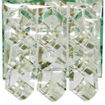 Светильник потолочный,JC 35W G5.3, прозрачный-белый матовый,хром 1570