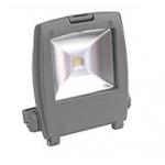 Прожектор квадратный, 1LED/10W-зеленый 230V серый (IP65) , LL-126