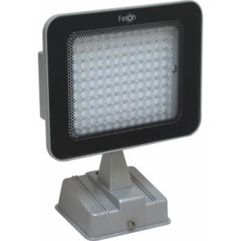 Прожектор квадратный, 130LED/0,06W-зеленый 230V серебрянный (IP54), LL-149
