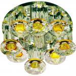 Светильник потолочный,JCD9 35W G9, прозрачный-желтый,прозрачный, 1527