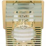 Светильник потолочный, JCD9 35W G9 с прозрачным-матовым стеклом, хром, DL-172