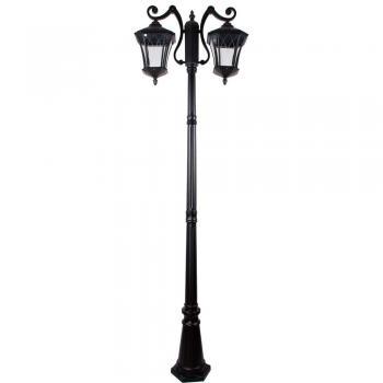 Светильник садово-парковый, 2*60W 230V E27 IP44 черный, PL4038