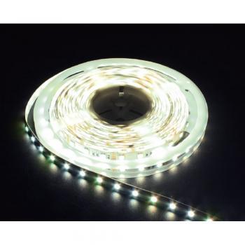 Лента светодиодная, 60SMD(5050)/m 14.4W/m 12V 5m натуральный белый, на белом основании, LS606