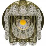 Светильник встраиваемый со светодиодной подсветкой 2.5W 4000K JCD9 35 W 230V/50Hz G9, прозрачный, прозрачный, JD58