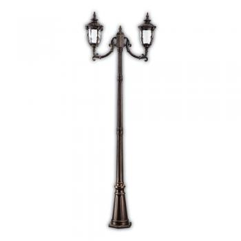 Светильник садово-парковый, 60W 230V E27 2,2M темно-коричневое золото, IP44, PL5008