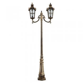 Светильник садово-парковый, 100W 230V E27 2,3M черное золото, IP44, PL5109