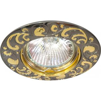 Светильник потолочный, MR16 G5.3 черный металлик-золото, DL2005