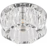 Светильник потолочный 10W 220V/50Hz 600Lm 3000K прозрачный, хром, JD159