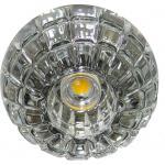 Светильник потолочный 10W 220V/50Hz 600Lm 3000K прозрачный, хром, JD87