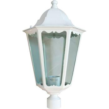Светильник садово-парковый, 100W 230V E27 белый, 6203