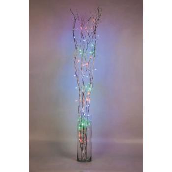 Ветки серебряные 120см 50 цветных LED 230V, LD206B-indoor