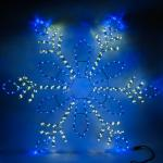 Световая фигура 230V, дюралайт 14 м 24 LED/м (синий+белый), шнур 1,6м IP44, 120*120 см, LT065
