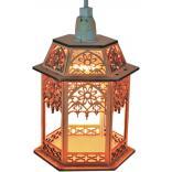 Деревянная световая фигура, 1 лампа накаливая, цвет свечения: теплый белый, 13,5*11,5*19, шнур 1,5 м , IP20, LT093