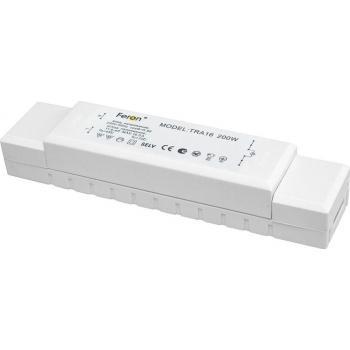 Трансформатор электронный понижающий с защитой, 230V/12V 200W, TRA16