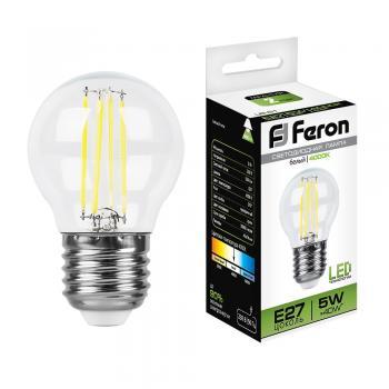 Лампа светодиодная, (5W) 230V E27 4000K, LB-61