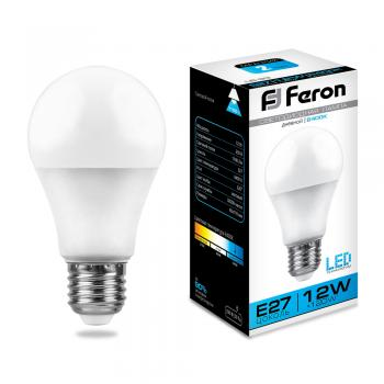 Лампа светодиодная, (12W) 230V E27 6400K, LB-93