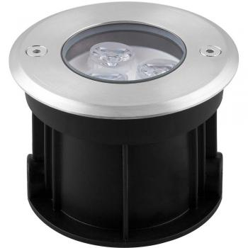 Светильник тротуарный, 3LED теплый белый, 3W, 100*H80mm, внутренний диаметр: 62mm, IP 67, SP4111, артикул 32012