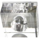 Светильник потолочный, JC G4 с прозрачным стеклом, хром, c лампой, JD171