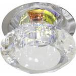 Светильник потолочный, JC G4 с многоцветным стеклом, хром, с лампой, JD83M-MC