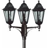 Светильник садово-парковый, 3*100W 230V E27 черное серебро, 6215