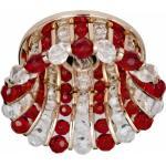 Светильник потолочный, JCD9 G9 с прозрачным и красным стеклом, золото, с лампой, CD2120