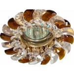 Светильник потолочный, MR16 G5.3 с прозрачным-коричневым стеклом, золото, с лампой, CD2316