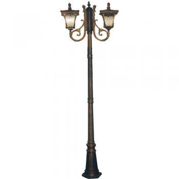 Светильник садово-парковый, 2*100W 230V E27 черное золото, 70032M