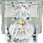 Светильник встраиваемый со светодиодной RGB подсветкой 2.5W JCD9 35 W 230V/50Hz G9, прозрачный, прозрачный, JD55