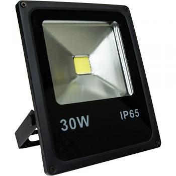 Прожектор светодиодный 1COB LED 30W 2400LM 6400K AC220V/50Hz, 225*185*48mm IP65, с кабелем длиной 30см, черный, LL-838