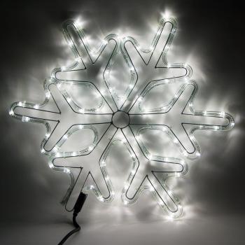 Световая фигура 230V, дюралайт 14 м 24 LED/м (белый), шнур 1,6м IP44, 54*54 см, LT066