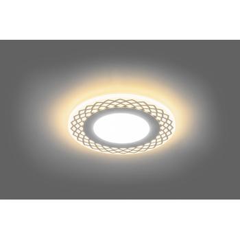 Светодиодный светильник Feron AL2880 встраиваемый 9W 4000K и подсветка 3000К белый